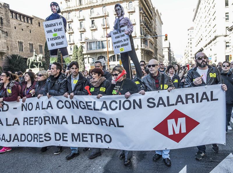 Trabajadores de TMB en lucha