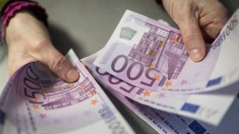 Bitllets de 500 euros en una entitat bancària de Munic, a Alemanya Foto:EFE