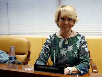 Esperanza Aguirre, aquest divendres a la comissió sobre corrupció de l'Assemblea de Madrid Foto:EFE