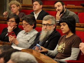 Diputats de la CUP durant un ple al Parlament Foto:ACN / ARXIU