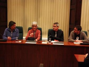 Muriel Casals, el 28 de gener, durant la sessió de constitució de la comissió d'estudis sobre el procés constituent que presidia Foto:ACN
