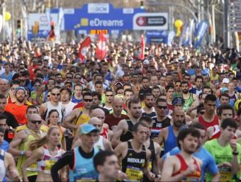 Sortida de la mitja marató de Barcelona Foto:ORIOL DURAN