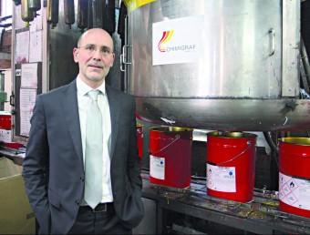 Armand Marcé és el director general de Chimigraf.  Foto:FRANCESC MUÑOZ
