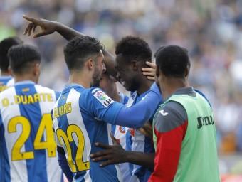 La celebració del gol de Caicedo contra l'Athletic  Foto:FERRAN CASALS