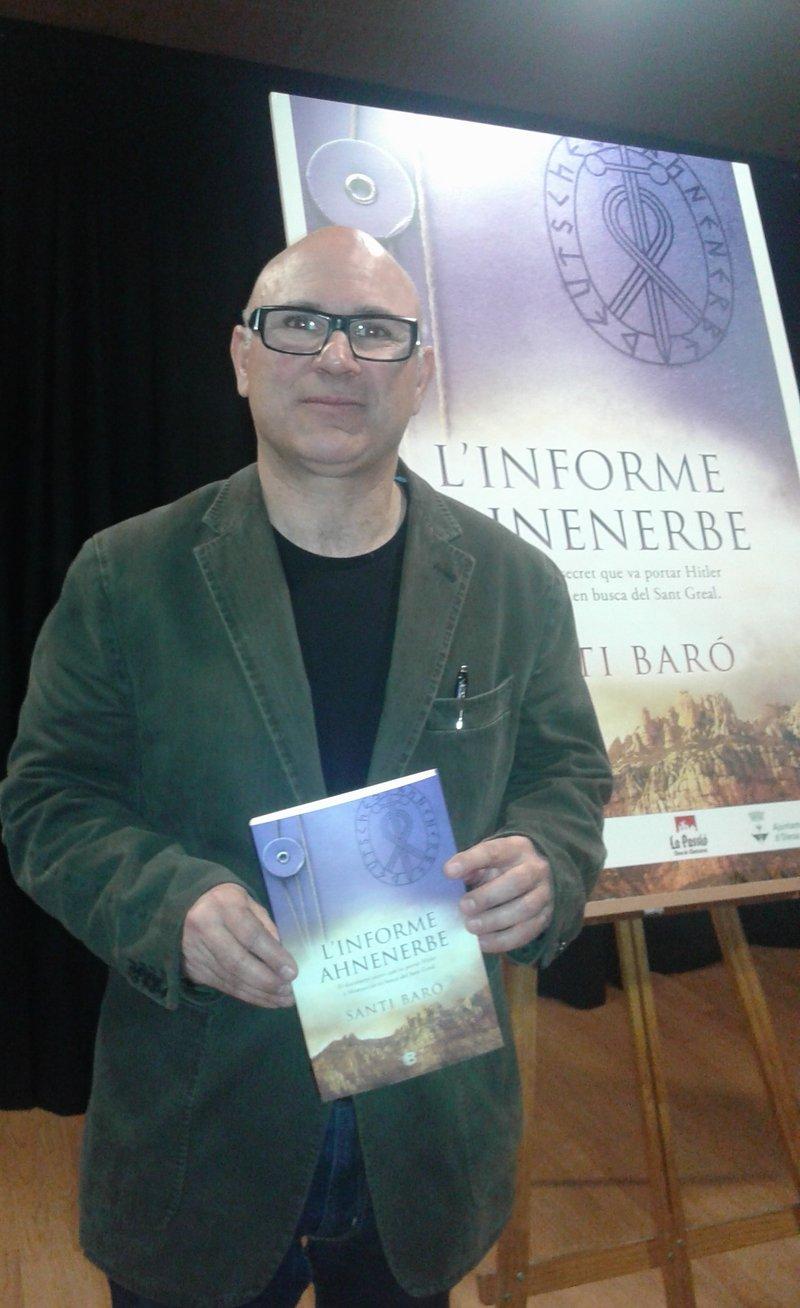 Imatge de Santi Baró, a la presentació que es va fer a Olesa de Montserrat.