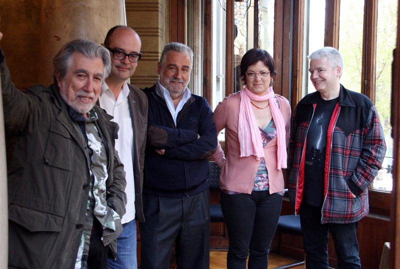 Imatge de Sebastià Alzamora, Blanca Busquets, Rafel Nadal, Màrius Serra i Jordi Sierra i Fabra són cinc dels 10 escriptors en català que participaran en la Fira del Llibre de Varsòvia.