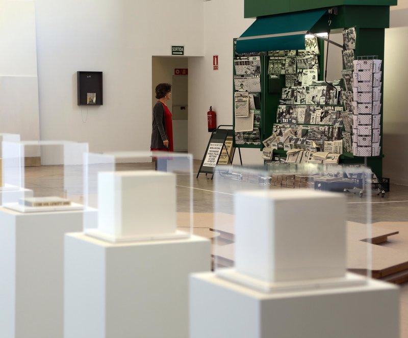 Imatge del quiosc de Francesc Ruiz, vist a la Biennal de Venècia, a la mostra d'Arts Libris.