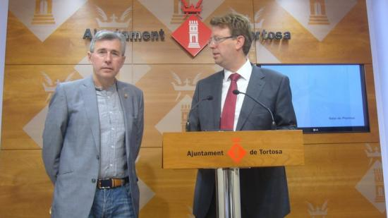 Monclús i Bel van firmar un acord de governança el juny del 2015. Foto:ARXIU