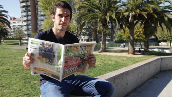 Dejan Lekic , ahir a la tarda al parc del Migdia de Girona Foto:JOAN SABATER