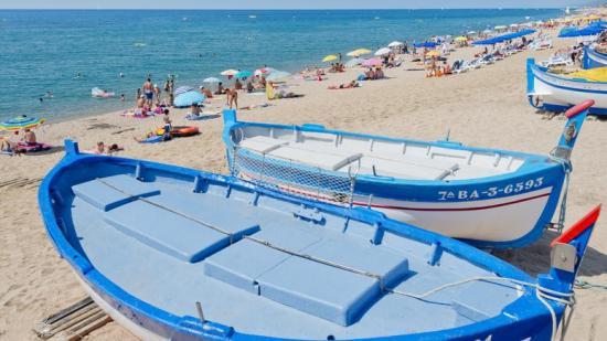 Detall de la platja d'Els Pescadors de Pineda que juntament amb la de La Riera han obtingut bandera blava Foto:A.P