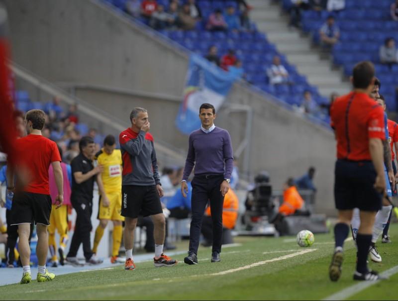 Constantin Galca ahir durant el partit amb l'Eibar Foto:FERRAN CASALS