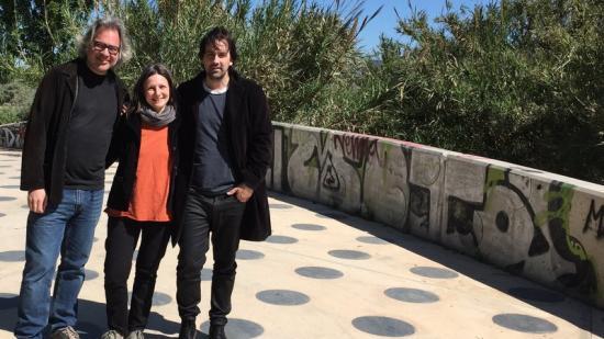 Els comissaris del pavelló català: Jaume Prat, Jelena Prokopljevic i Isaki Lacuesta Foto:INSTITUT RAMON LLULL