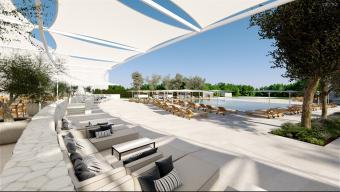 La piscina del nou hotel del PGA Catalunya Resort de Caldes de Malavella. Foto:EL PUNT AVUI