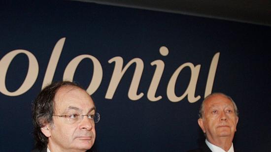 Pere Vinyoles  (esquerra), conseller delegat de Colonial, i Juan José Bruguera, president, en una imatge d'arxiu Foto:J. RAMOS