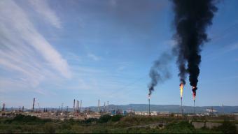 Les columnas de fum de les torxes van ser visibles des de quilòmetres de distància Foto:ACN