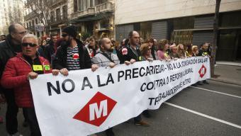 Manifestació de treballadors del metro , en una imatge d'arxiu Foto:ORIOL DURAN