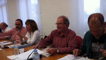 El ple ordinari d'ahir, amb Martí Fonalleras, portaveu d'ERC, al centre Foto:JOAN TRILLAS