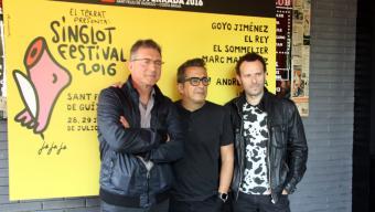 D'esquerra a dreta, Fermí Fernández, Andreu Buenafuente i Marc Martínez Foto:ACN