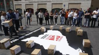 El president d'Òmnium, Jordi Cuixart, divendres, durant la convocatòria de la manifestació d'avui  Foto:Oriol Duran