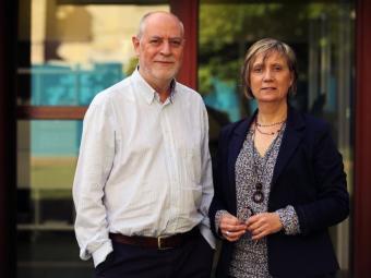 Josep M. Aragonés i Rosa Fusté , guardonats per la seva tasca en el camp dels efectes especials i 3D Foto:J.M RAMOS