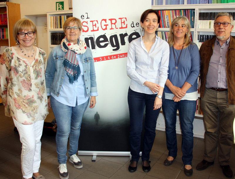 Imatge dels impulsors del festival de novel·la negra.