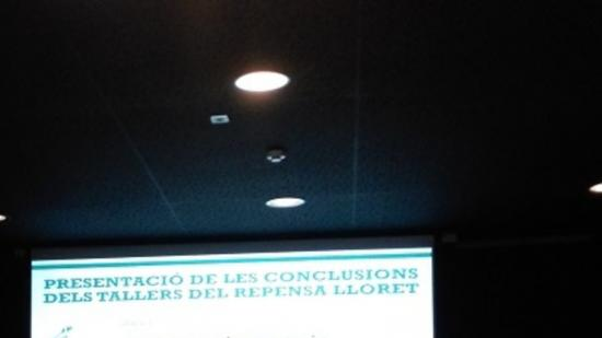 Un moment de la presentació de les conclusions dels tallers Repensa Lloret. Foto:AJUNTAMENT DE LLORET DE MAR