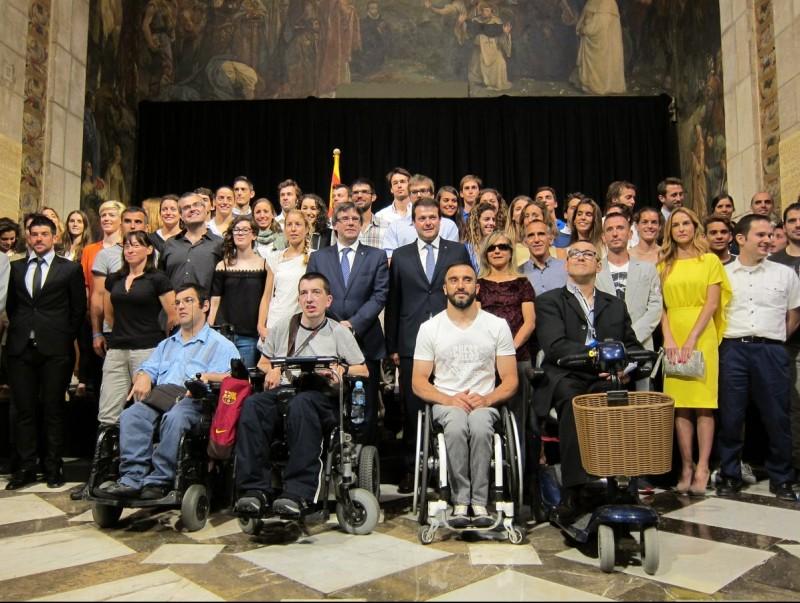 La recepció de Puigdemont als olímpics i paralímpics catalans Foto:EP/EUROPAPRESS