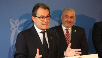 López al costat d'Artur Mas el desembre a la inauguració de la presó de Mas d'Enric Foto:ACN