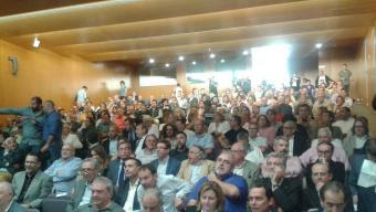 Acte públic en favor del futur del teixit empresarial de Tarragona, ahir, a l'Aula Magna de la URV C.F.
