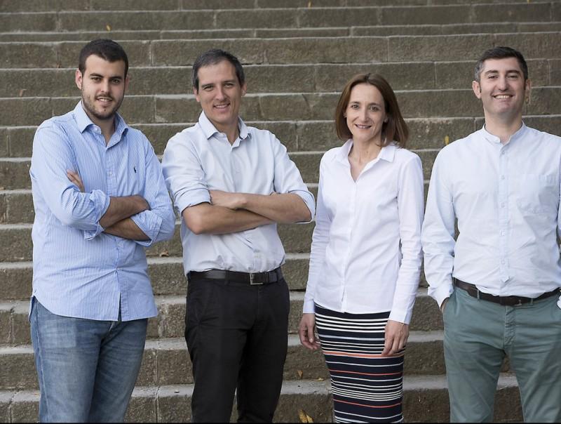 Sergio González (esq.), Daniel Borrell, Mónica Comalrena i David Rodríguez, executius de CornerJob.  Foto:J. L
