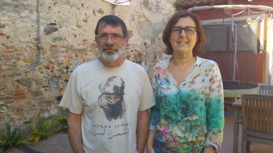 Josep Gelpí i Natatxa Frutos fotografiats recentment a Malgrat de Mar Foto:T.M