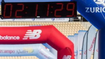 Carles Castillejo, que competirà en la mitja marató, és amb 37 anys el més veterà de l'expedició espanyola.  Foto:EFE