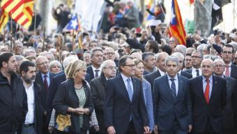 Artur Mas en anar a declarar al TSJC amb el suport del govern i de la societat civil catalana, el 2015 oriol duran