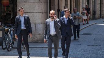 Dutaret i Boudjemaa, en la visita que van fer a Girona el 30 de juny passat. Foto:JONÁS FORCHINI