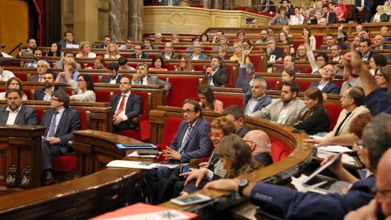El moment de la votació al Parlament per revocar De Alfonso del seu càrrec, ahir juanma ramos