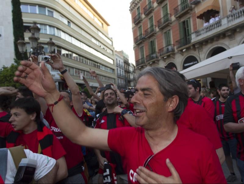 Natxo González, el dia que el Reus va celebrar l'ascens a segona A Foto:JOSÉ CARLOS LEÓN