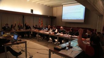 Una de les votacions perdudes al ple aquest mandat pel fallit govern de coalició –i en minoria– de CiU i ERC-Junts Foto:E.A