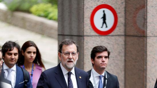 Mariano Rajoy, dimecres d'aquesta setmana, durant la cimera de la UE per analitzat el Brexitreuters