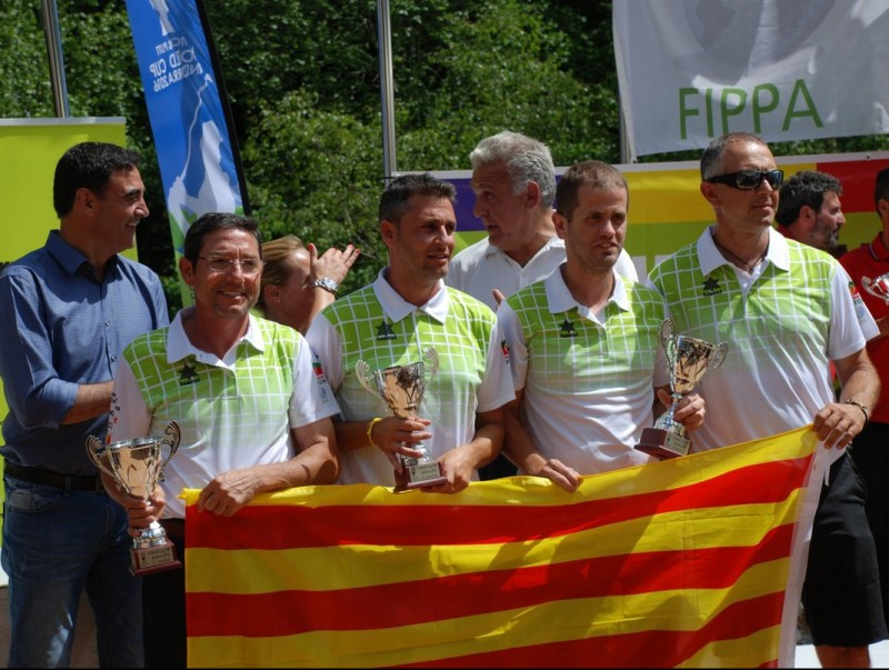 Els integrants de la selecció catalana a Andorra