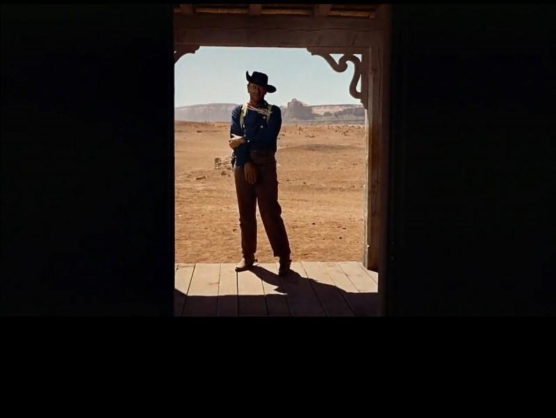 Ethan Edwards a la famosa escena final de 'Centaures del desert' Foto:WHITNEY PICTURES