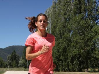 Esther Guerrero, aquest dilluns a la pista de La Draga Foto:JOAN SABATER