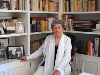 Rosina Lajo al despatx de casa seva Foto:HELENA GORGOLL