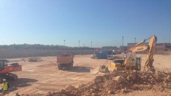 Terrenys de Campclar en els qual s'està construint l'Anella Mediterrània dels Jocs de 2017 Foto:ARXIU