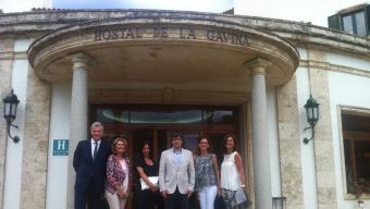 A d'alt, el president Puigdemont, ahir a la Gavina. Foto:J.T