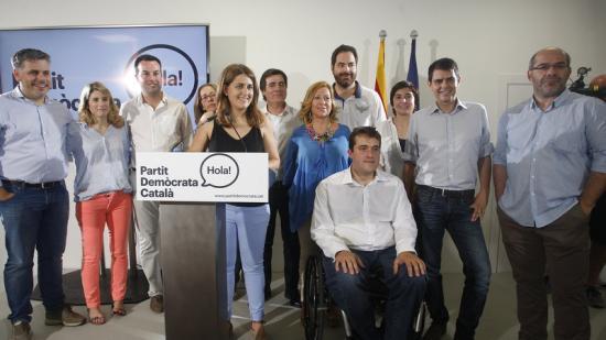 La nova direcciódel PDC amb Marta Pascal al capdavant oriol duran