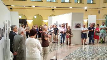 Inauguració de l'exposició, dijous passat, al Palau de la Diputació Foto:EL PUNT AVUI