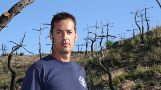 Marc Sellarès, al seu Bosc de les Creus. Foto:ÒSCAR LÓPEZ