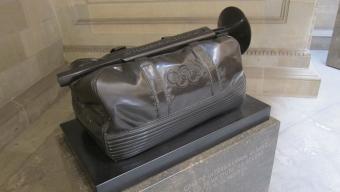 L'escultura de l'artista Joan Mora que Samaranch va regalar a l'Ajuntament de Barcelona Foto:EUROPA PRESS