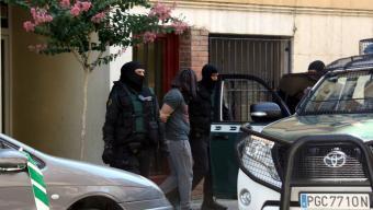 Un dels detinguts ahir a Arbúcies Foto:ACN