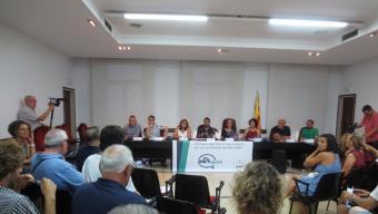 Un moment durant la presentació del procés participatiu que ha engegat l'Ajuntament de Vilassar de Mar Foto:EL PUNT AVUI